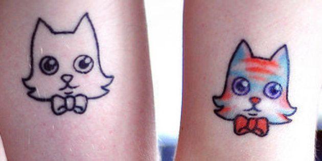 Tatuajes a juego para parejas que no resultan demasiado empalagosos