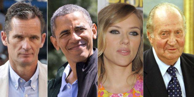 El Rey, Urdangarín, Scarlett, Obama y otros zurdos famosos