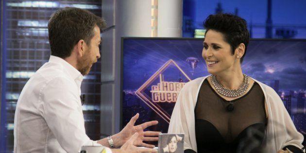 Rosa López charla con Pablo Motos en 'El Hormiguero', el martes 27 de junio de