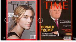 Una portada de la revista 'Time' con la imagen de Trump decora las paredes de sus clubes de golf... Y es