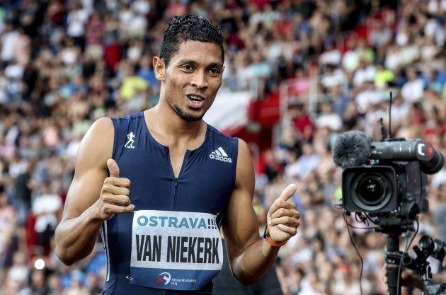 Van Niekerk se cuela en la fiesta de Bolt en Ostrava y bate el récord del mundo de los 300