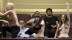 Las tres activistas de Femen, en libertad (FOTOS,