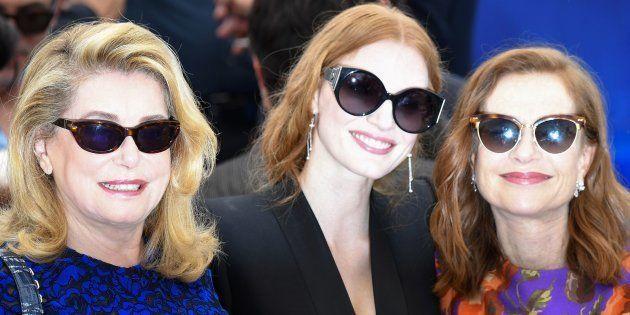 Catherine Deneuve, Jessica Chastain e Isabelle Huppert en Cannes en