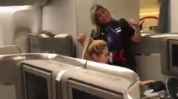 Una azafata del vuelo de Shakira se desata frente a