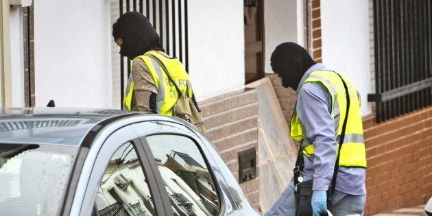 Efectivos de la Guardia Civil, en una operación antiyihadista llevada a cabo recientemente en