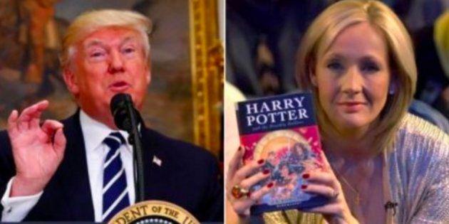 J.K Rowling destroza a Donald Trump en una