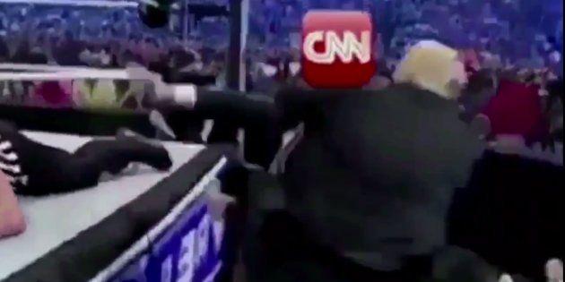 Captura del vídeo difundido por Donald Trump en su cuenta de