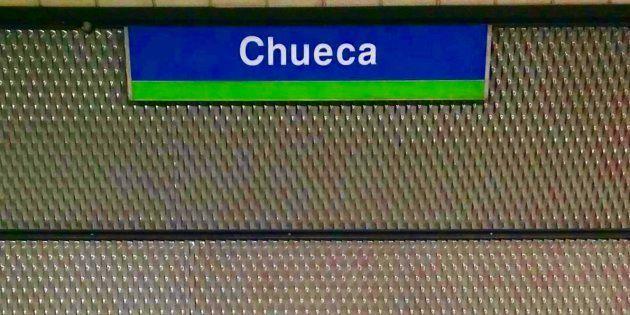 Estación de Chueca, por la que pasa la línea 5 del metro de