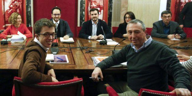 Reunión de más de cuatro horas entre PSOE, IU, Compromís y Podemos en el