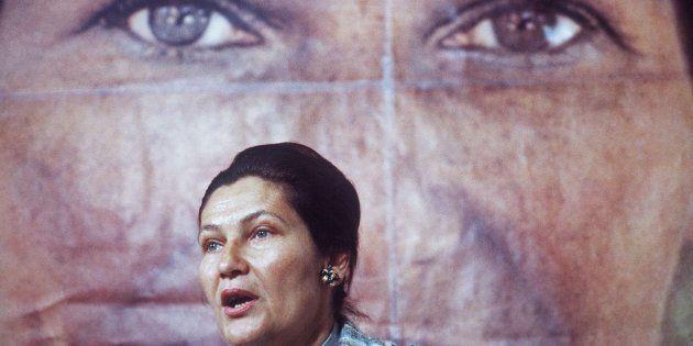 1 de mayo de 1979. La entonces ministra francesa de Salud y candidata a las elecciones europeas, Simone...