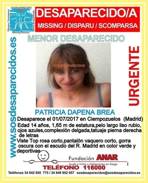 SOS Desaparecidos busca a una chica de 14 años desaparecida en
