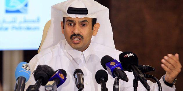 Saad Sherida al Kaabi, presidente de Qatar Petroleum, durante la rueda de prensa en
