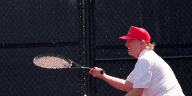 La foto de Trump jugando al tenis que no ha dejado indiferente a