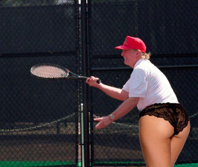 Otro montaje de Trump jugando al