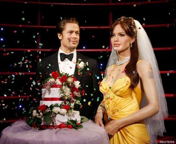 Boda de Angelina Jolie y Brad Pitt: él ya luce su anillo de casado