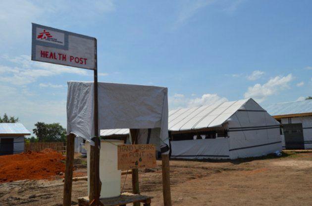 Uno de los puestos de salud de MSF en el campo de refugiados de Palorinya, en el norte de
