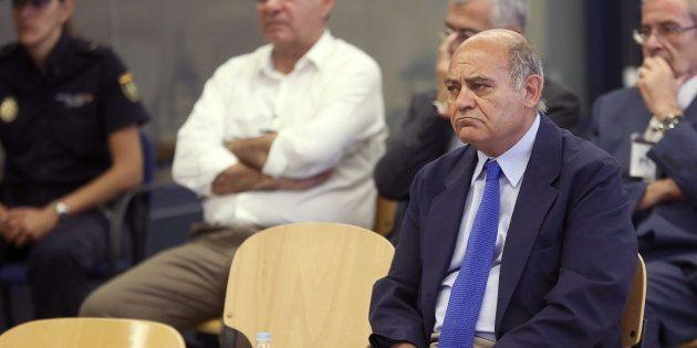 El expresidente de la CEOE y de la patronal madrileña Gerardo Díaz Ferrán, durante el juicio que se celebró...