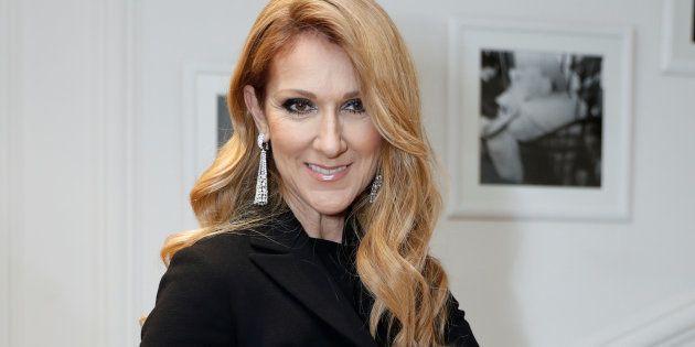 Celine Dion en el desfile de Dior el 4 de julio de