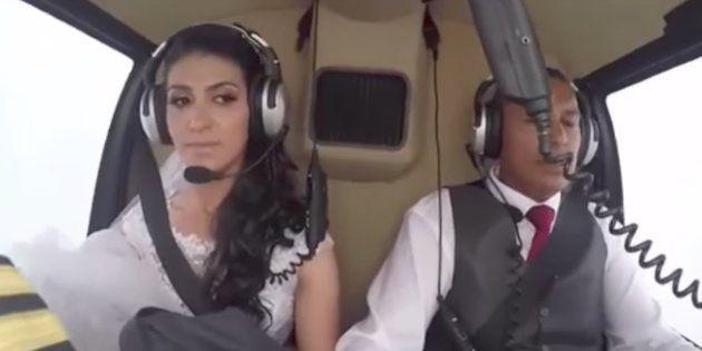 La ilusión de esta novia por llegar a su boda en helicóptero acabó en tragedia