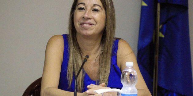 La secretaria de Estado de Función Pública, Elena Collado, durante la reunión de la Mesa General de Negociación...