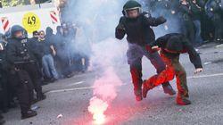 Fuertes enfrentamientos entre policía y manifestantes en Hamburgo (Alemania) por el