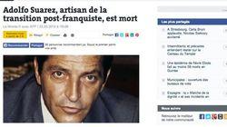 La muerte de Suárez en la prensa extranjera:
