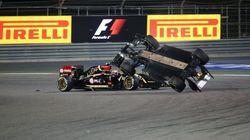 El aparatoso accidente de Esteban Gutiérrez en Bahréin