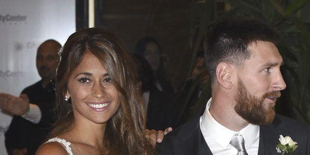 Lionel Messi y Antonela Roccuzzo en su