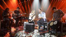 Shakira y Coldplay cantan juntos 'Chantaje' y 'Me