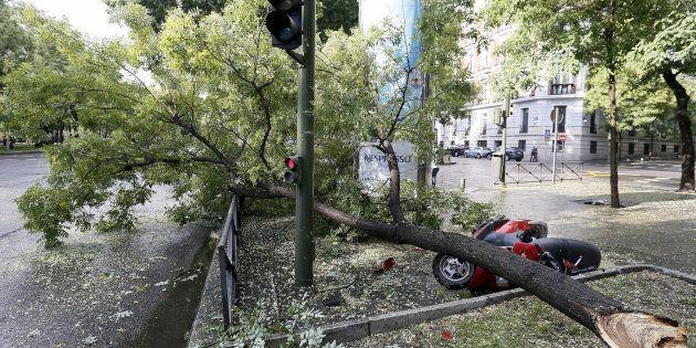 Un gran tormenta en Madrid provoca desvíos de vuelos, inundaciones y grandes