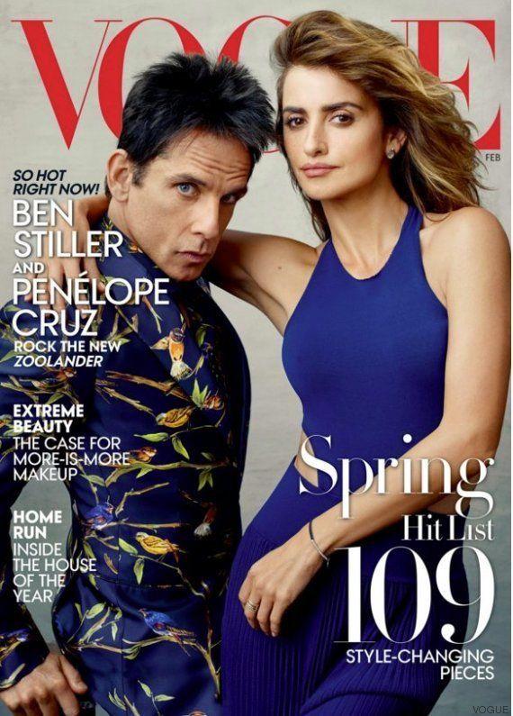 Penélope Cruz, portada de 'Vogue USA' con Ben Stiller por 'Zoolander