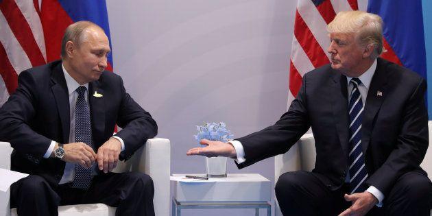 Muchos están haciendo la misma broma con esta foto de Donald Trump y Vladimir