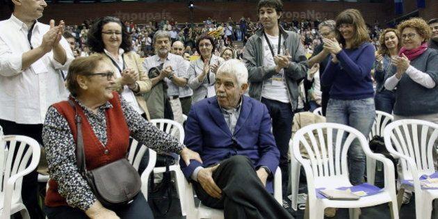 Pasqual Maragall apoya a a ERC en su mitin