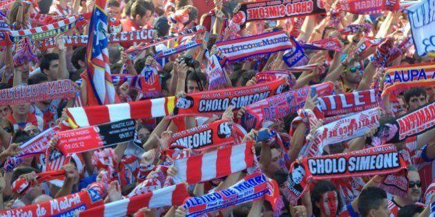 Una multitud celebra en Madrid la Liga conquistada por el Atlético