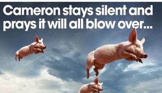 La prensa británica se mofa de Cameron y su