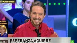 El tenso cara a cara entre Pablo Iglesias y Esperanza Aguirre