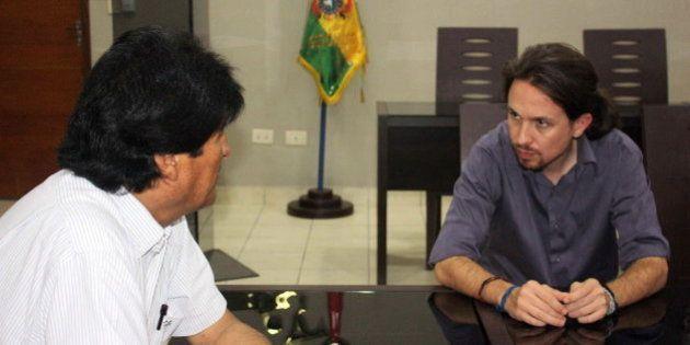 Pablo Iglesias se reúne con Evo Morales en el inicio de su gira