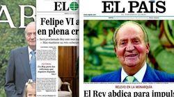 Así reflejan las portadas de los periódicos la abdicación