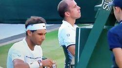 Nadal sorprende en Wimbledon con su gesto más