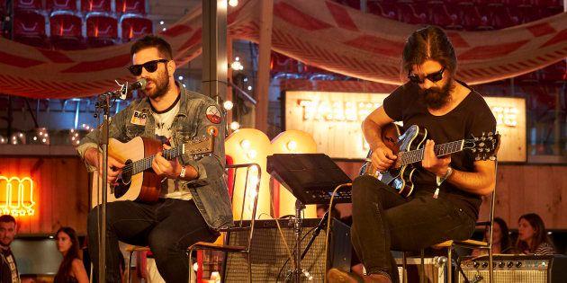 Rafa Val y Alberto Cantúa durante el concierto 'Cómplices de Mahou' de Viva Suecia en el Mad