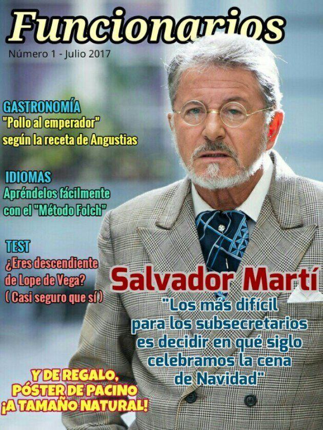 'Funcionarios', la revista de los trabajadores de 'El Ministerio del Tiempo', se promociona con un póster...