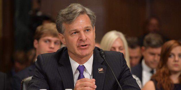 El abogado estadounidense Christopher Wray durante la sesión para su