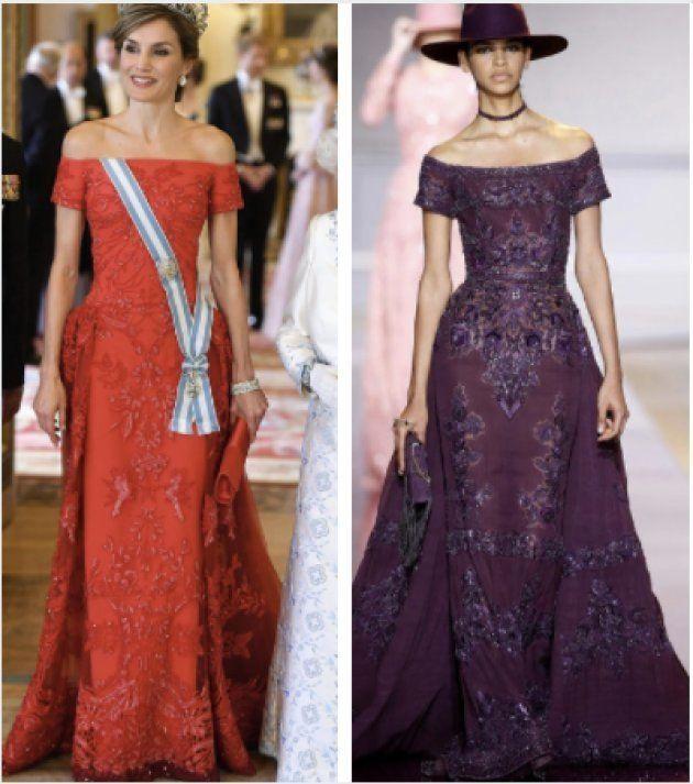 El vestido de la reina Letizia en Buckingham, ¿clavado a este Zuhair