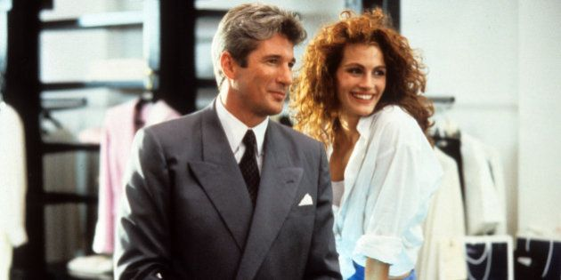Richard Gere and Julia Roberts in a scene from the film 'Pretty Woman', 1990. (Photo by Buena Vista/Getty