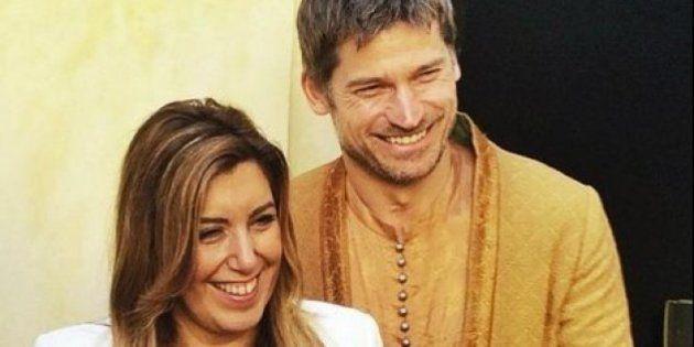 Susana Díaz visita el rodaje de 'Juego de Tronos' en