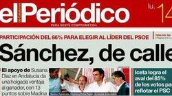 La elección de Pedro Sánchez, en las portadas
