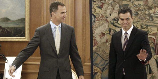 Pedro Sánchez, recibido por el rey Felipe VI:
