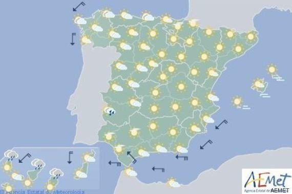 Lluvias en el interior de Galicia y descenso de las temperaturas en el