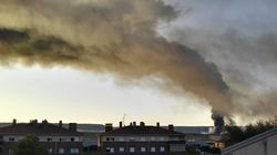 Incendio en una planta de reciclado en