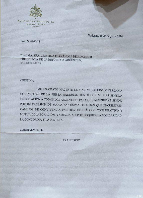 Lío en Argentina por esta supuesta carta del papa